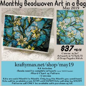 Monthly Beadwoven Art in a Bag – May2019
