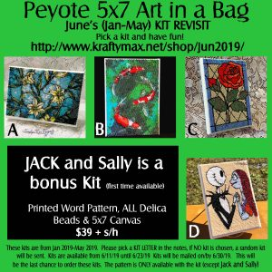 Monthly 5×7 Beadwoven Art in a Bag JUNE REVISIT