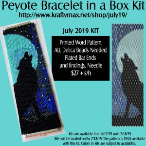 July Wolf Beadwoven Bracelet in a Box Kit 2019