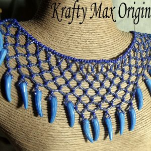 Blue Netting TOOTH  Necklace Set