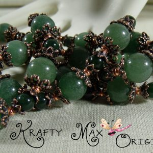 Green Aventurine with Dyed Jade and Beautiful Copper – 3 Piece Set
