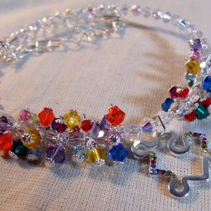 The Rainbow Love of Autism Speaks Swarovski Crystal Springwire Set