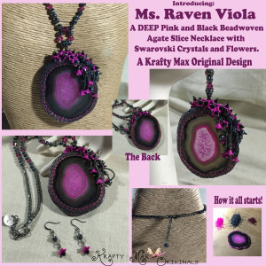 Ms Raven Viola beadwoven necklace 1