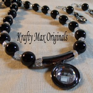 Onyx and Swarovski Crystal Darkness Delight