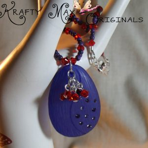 Red and Purple – Swarovski Crystal Necklace Set for Creations Color Challenge