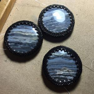 black and white beadwoven wrk 18