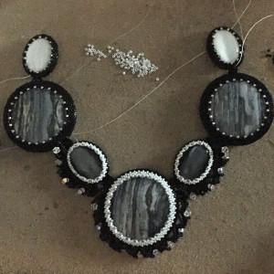 black and white beadwoven wrk 46