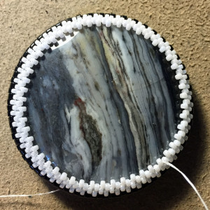 black and white beadwoven wrk 8