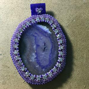 purple slice with vintage crystals wrk 10