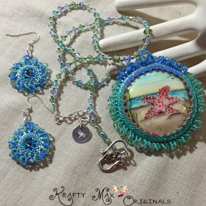 star fish beadwoven set 9