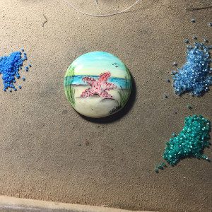 star fish beadwoven wrk necklace set 1