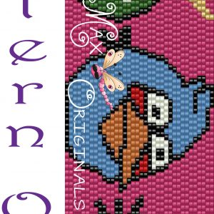 Angry Birds -Pig, Blue and White -PATTERN ONLY-a Krafty Max Original