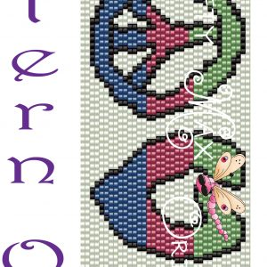 For the Love of PEACE Beadwoven Bracelet PATTERN ONLY Krafty Max Original