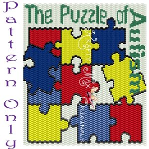 The Puzzle of Autism – PATTERN ONLY – Krafty Max Original Design