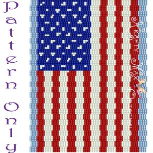 US Flag 3 Drop Peyote Pattern – A Krafty Max Original Design