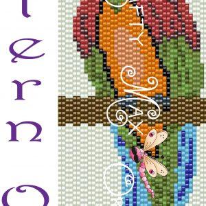 Parrot 2 Drop Beadwoven Peyote Bracelet Pattern a Krafty Max Original