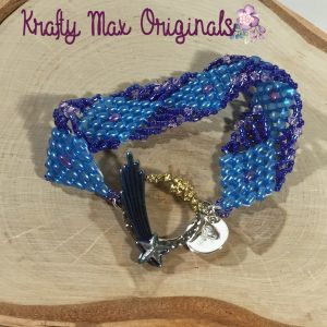 Blue and Purple Duo Triangle Bracelet 1
