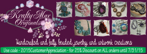 Krafty Max website banner with discount
