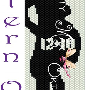 Pregnant Lady with DATE  and CAT Beadwoven Bracelet PATTERN ONLY