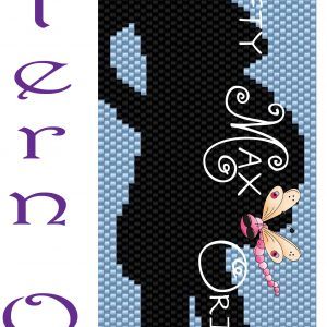 Pregnant Lady with CAT Beadwoven Bracelet PATTERN ONLY