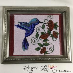 humming bird and flower wall art 1