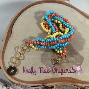 sherbert bedwoven bracelet 2