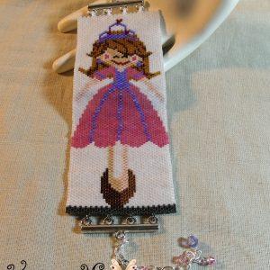 Ballerina Girl Handmade Beadwoven Bracelet
