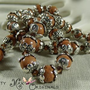 Tigerskin Jasper And Silver Simply Beautiful Necklace Set