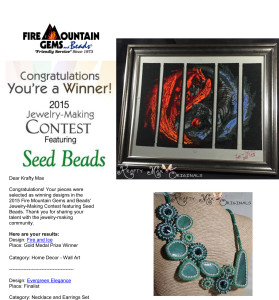 Fire MOuntain GEms 2015 winner