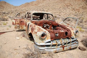 Summer Road Trip 423 UT - Crater Island - Tungsten Mill - Rusty Car
