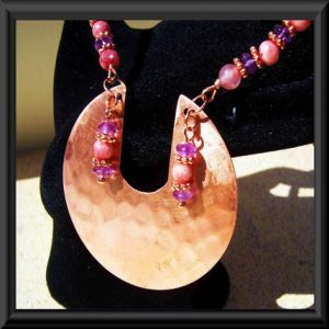 Copper, Amethyst and Rodochrosite Pure Elegance Set