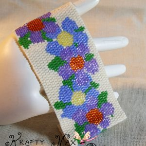 Flowers are the Thing to Wear Beadwoven Bracelet