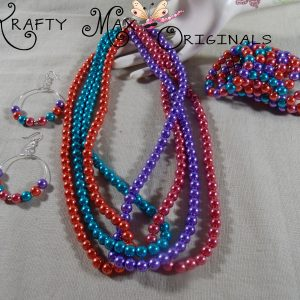 Swarovski Pearls in a SHOW of Color – a 3 Piece Necklace Set