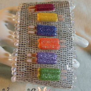 Popsicles on Ice Beadwoven Bracelet