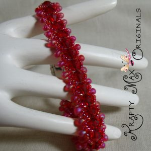 The Reds and Pinks Have it All – Swarovski Crystal Beadwoven Bracelet