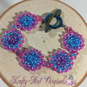 pink purple and blue star bracelet 1