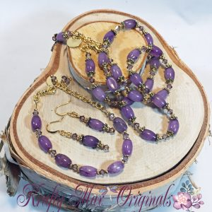 Amethyst and Gold 3 Piece Set 1