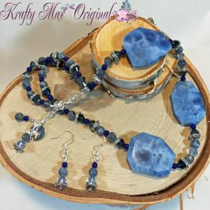 Kyanite and Blue Quartz Necklace Set 2