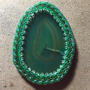 green agate slice wrk 15