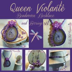 Queen Violante Purple Beadwoven Necklace Set