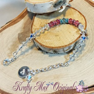 pink and blue swarovski crystal bracelet 1