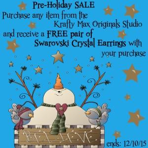 pre holiday sale copy
