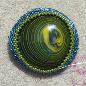 blue and green glass necklace wrkg 4