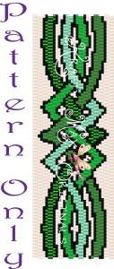 Celtic Ribbon Beadwoven Bracelet Pattern