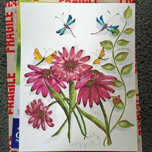 Eva Ason's Art & Chronicles Dragonfly Art