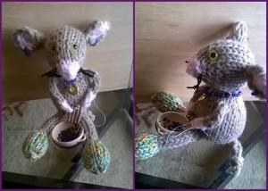 Handmade Fuzzy Beading Mouse 2