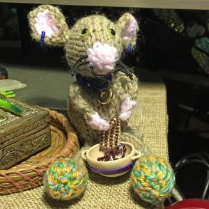 Handmade Fuzzy Beading Mouse