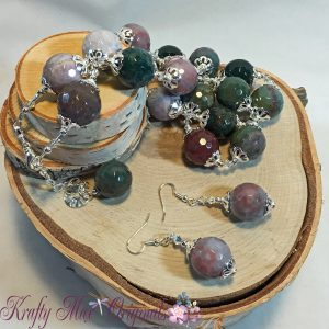 Faceted Large Mixed Agate Necklace Set