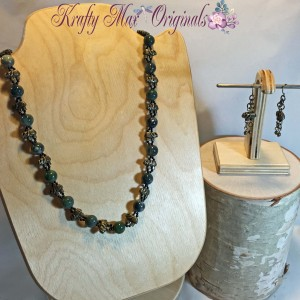 Elephant and Green Necklace Set 2