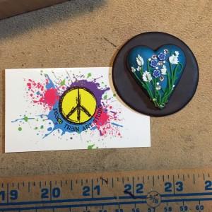 Peace Train Art heart